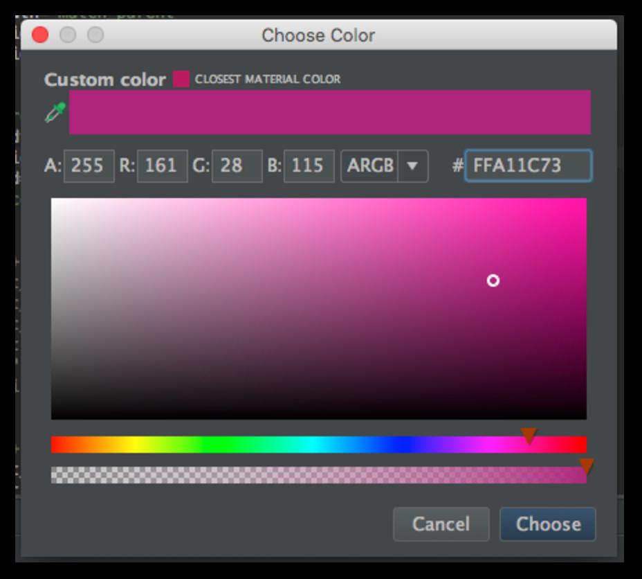 color picker in android studio