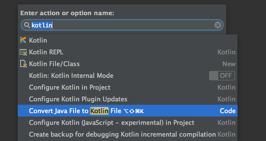Convert existing Java code to Kotlin