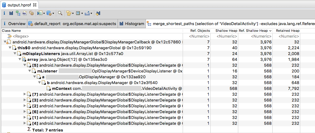 Eclipse Memory Analyzer - Memory leak Identification