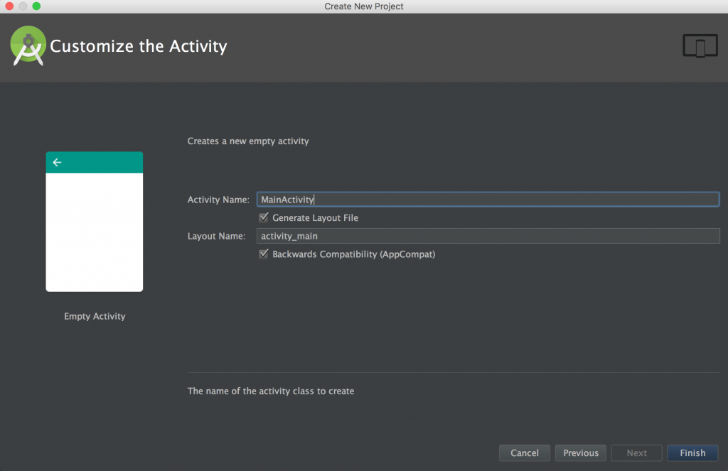 Step 4 Naming default user activity.